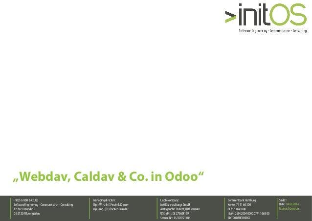 Webdav, Caldav & Co. in Odoo