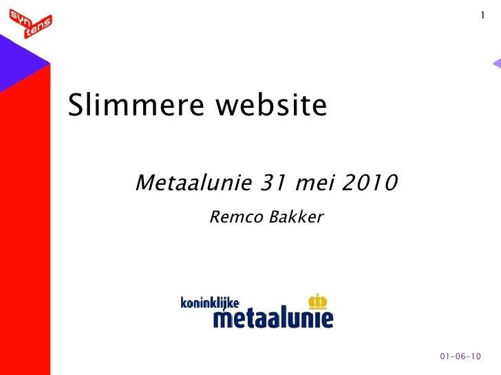 Slimmere website Metaalunie 310510