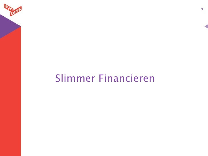 1     Slimmer Financieren