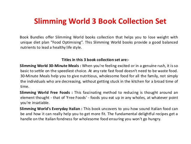 Slimming World Free Foods Everyday Italian 30 Minute
