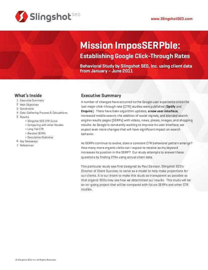 www.SlingshotSEO.com                                             Mission ImposSERPble:                                    ...