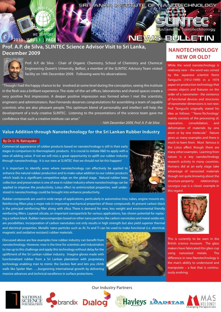SRI LANKA INSTITUTE OF NANOTECHNOLOGY                                                                                     ...