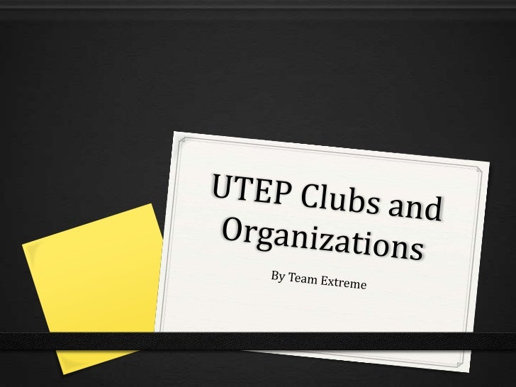 UTEP Clubs and Organizations
