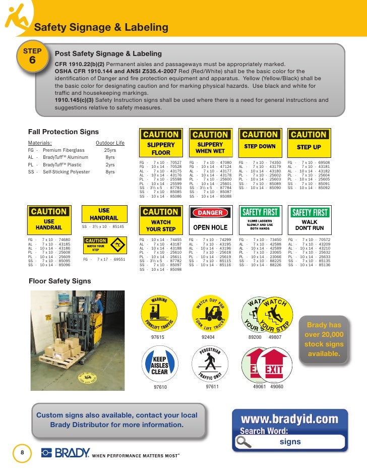 Safety Step Safety Signage Labeling Step