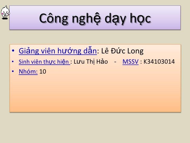 Lop12 - C2 - bai3 - Lưu Thị Hảo