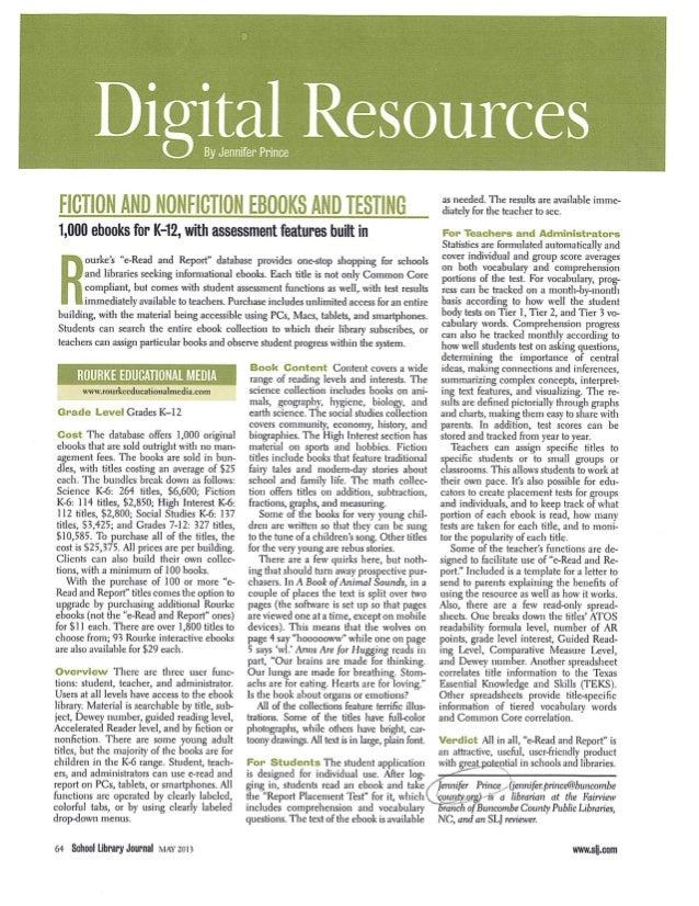 Slj e read & report review
