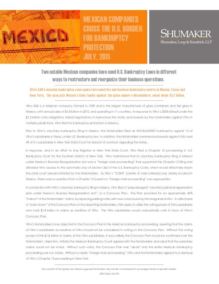 May 2011 Newsletter Mexican Companies Cross The U S  Border