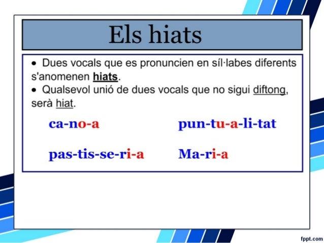 S l labes diftongs hiats d grafs ortografia catal - Internet en valencia ...