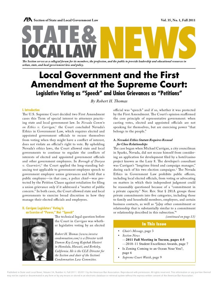 NEWS                         Section of State and Local Government Law                                                    ...