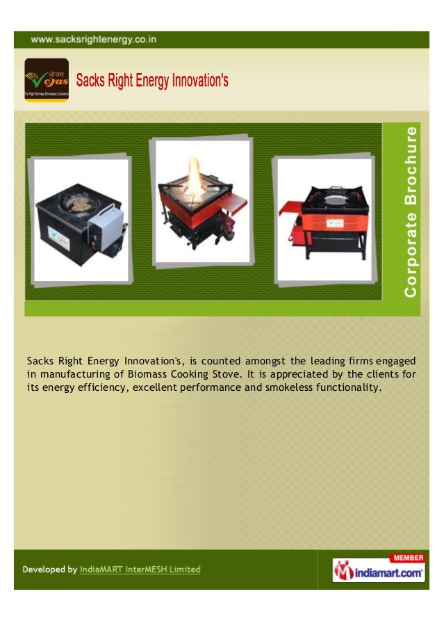 Sacks Right Energy Innovations, is counted amongst the leading firms engagedin manufacturing of Biomass Cooking Stove. It ...