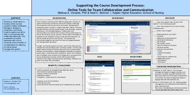 Online Project Management & Course Development