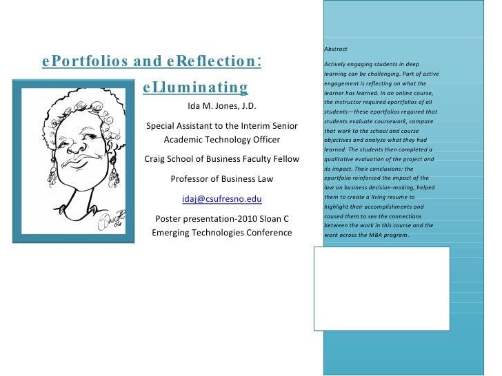ePorfolios and eReflection: eLluminating