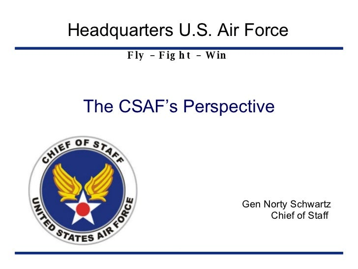 CSAFs Perspective