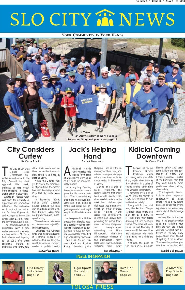 Slo city news rotary community service project   5-5-11