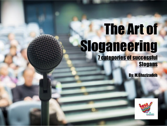 The Art of Sloganeering 7 categories of successful Slogans By: M.Ghazizadeh  Pakshoo Marketing Dep.