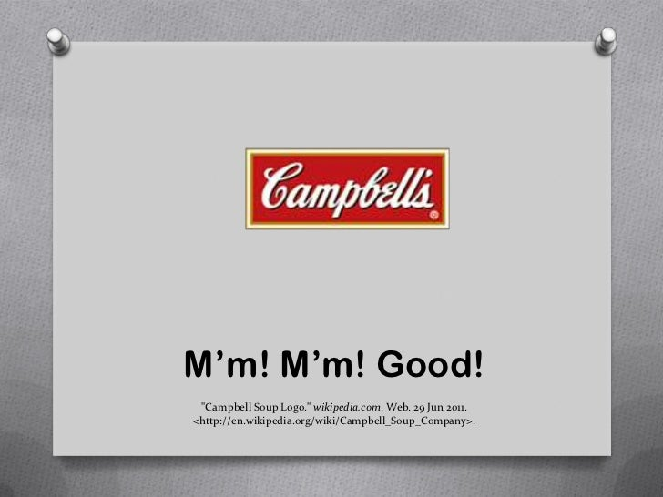 "Campbell Soup Good Good!""campbell Soup Logo"