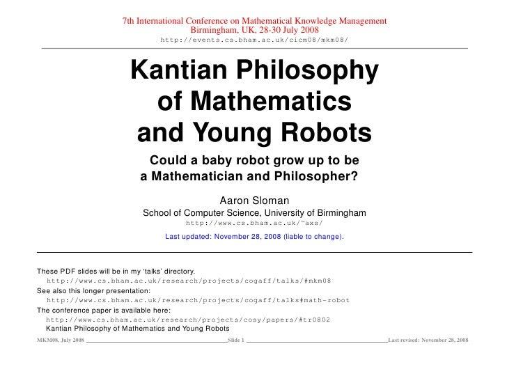 7th International Conference on Mathematical Knowledge Management                                       Birmingham, UK, 28...