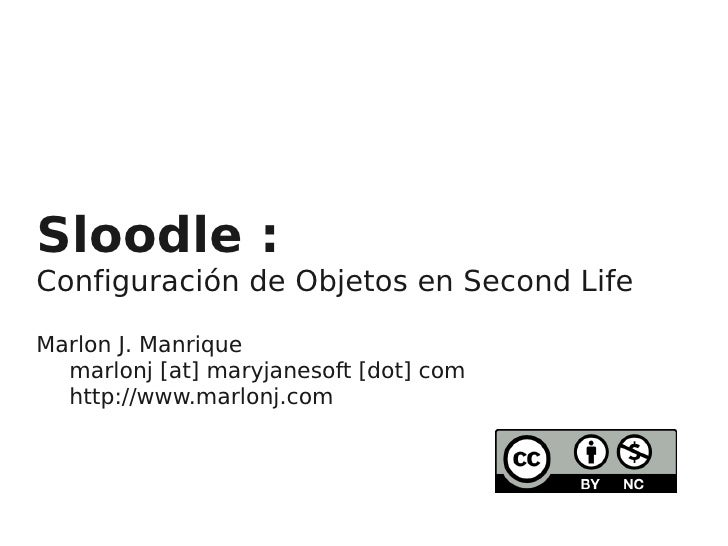 Sloodle : Configuracion de Objetos en Second Life