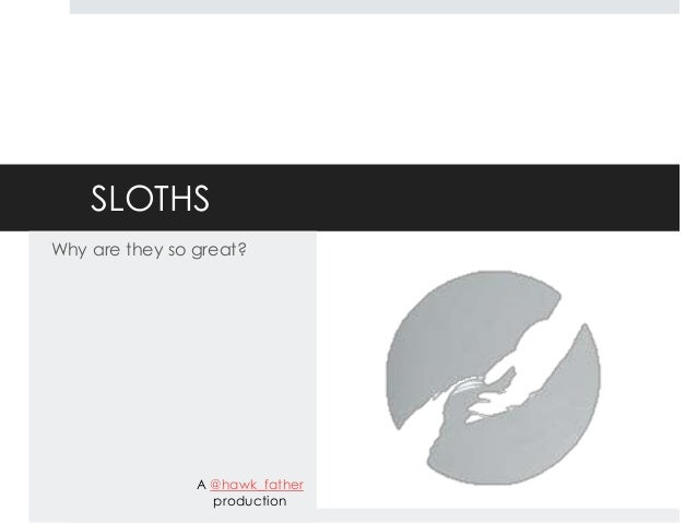 SLOTHSWhy are they so great?                A @hawk_father                  production
