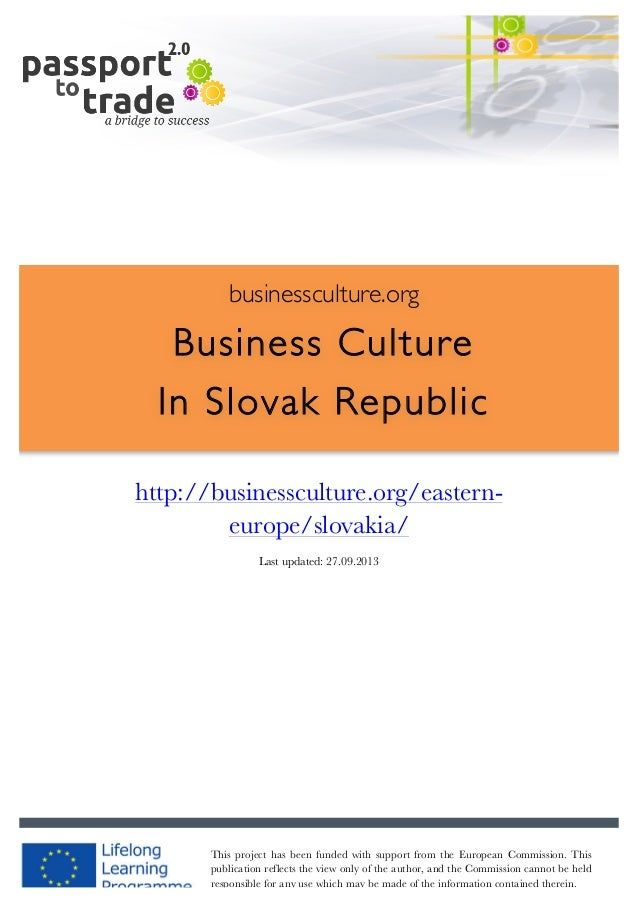 Slovak business culture guide - Learn about Slovak Republic