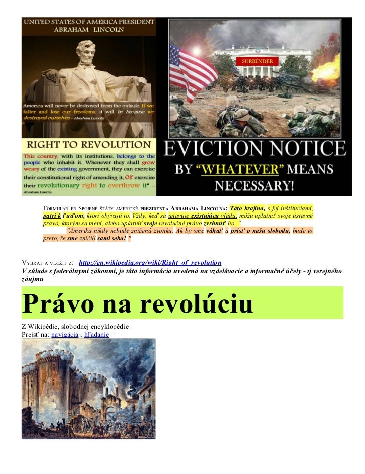 Slovak  Right of REVOLUTION & Political CORRUPTION
