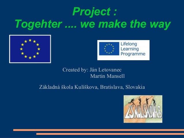 Slovakia  students presentation in the turkey meeting