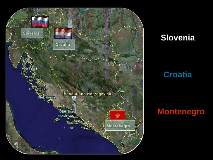 Slovenia, croatia and montenegro