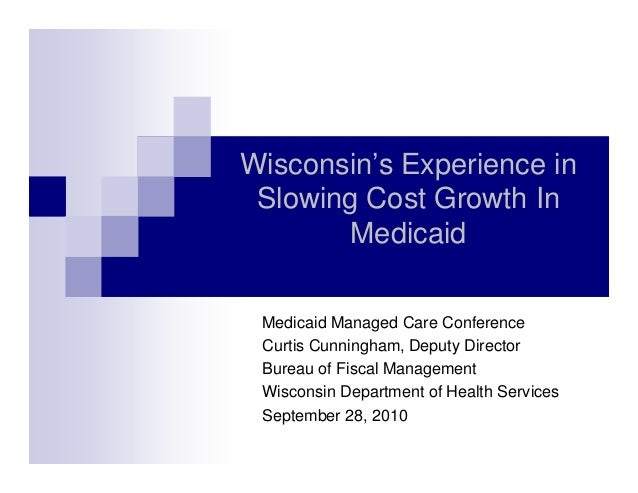 Slowing Cost Growth In Medicaid