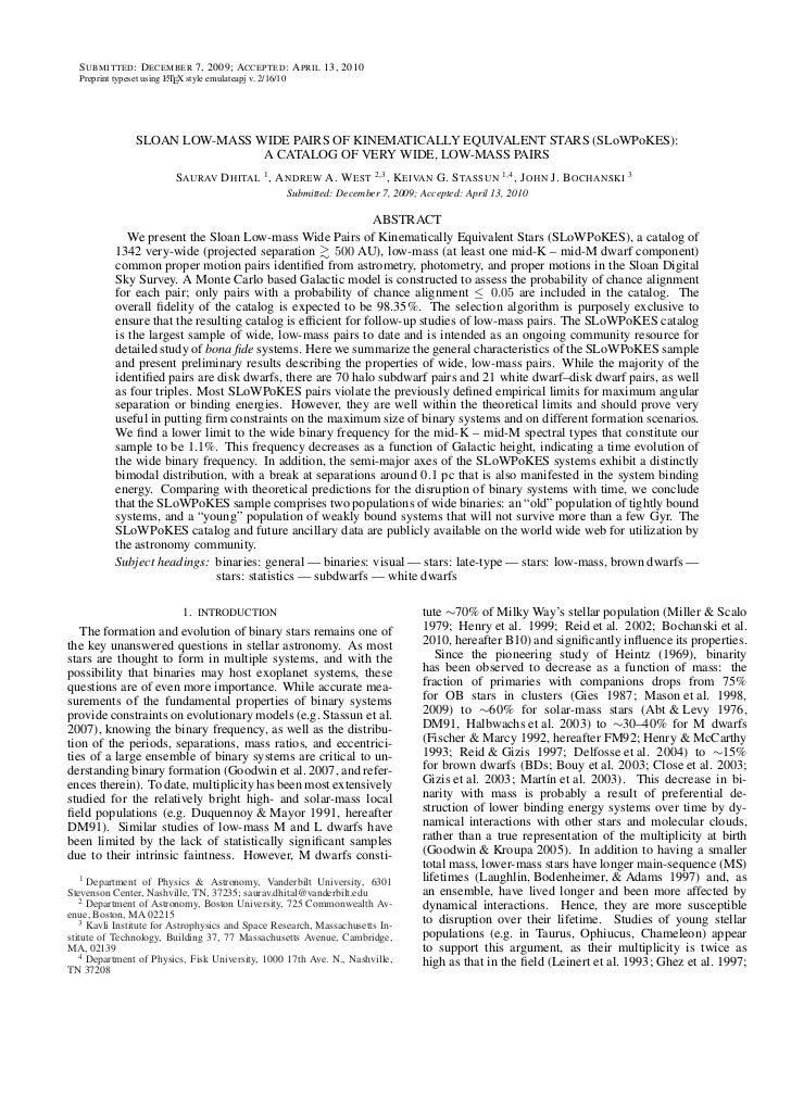 S UBMITTED : D ECEMBER 7, 2009; ACCEPTED : A PRIL 13, 2010  Preprint typeset using LTEX style emulateapj v. 2/16/10       ...