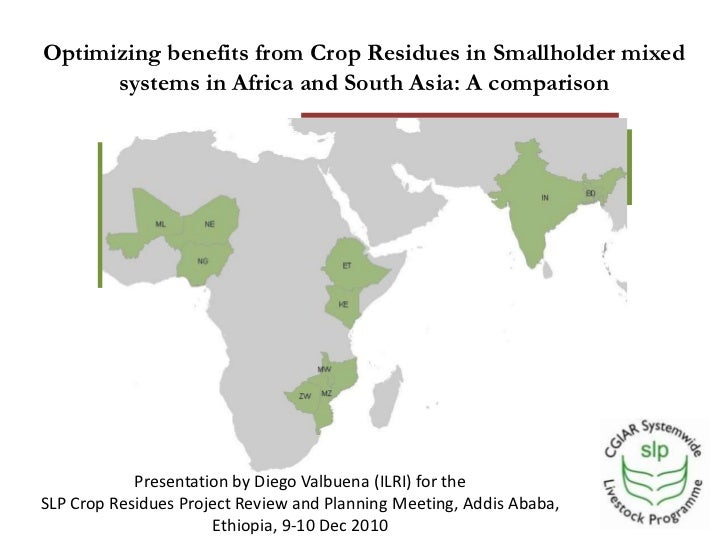 Optimizing benefits from crop residues in smallholder mixed systems in Africa and South Asia: A comparison