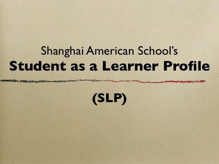 SLP Student Presentation
