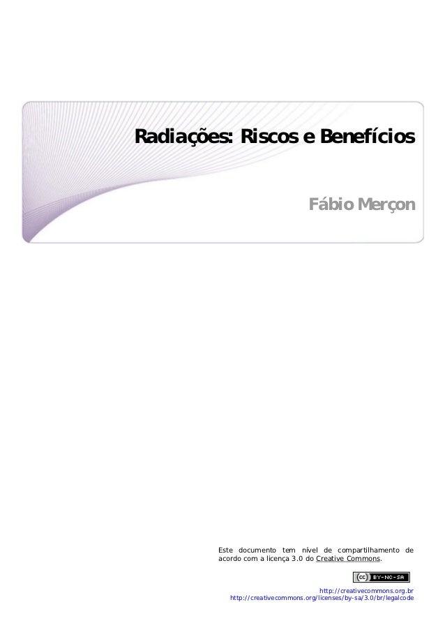 Radiações: Riscos e Benefícios                                                                                     ...