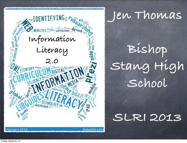 Jen Thomas                      Information                        Literacy      Bishop                          2.0      ...