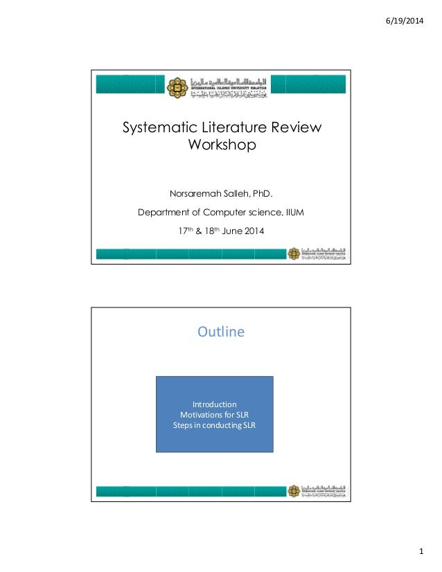 Literature review research proposal systematic review