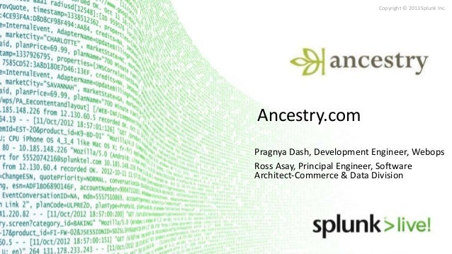 SplunkLive! Salt Lake City June 2013 - Ancestry.com