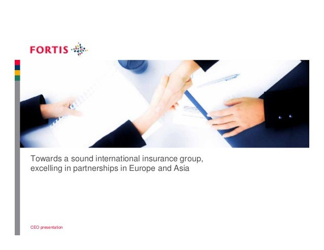 Towards a sound international insurance group, excelling in partnerships in Europe and Asia  CEO presentation