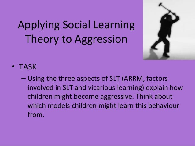 social learning theory and aggression essay It is argued that a better understanding of aggression and the causal factors   the basic principle underlying social learning theory is that children learn to be.