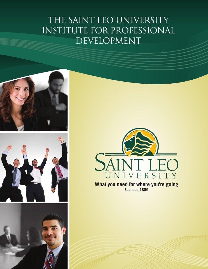 SLU Inst For Professional Development Brochure
