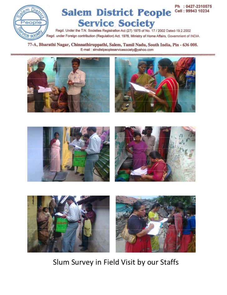 Slum Survey in Field Visit by our Staffs