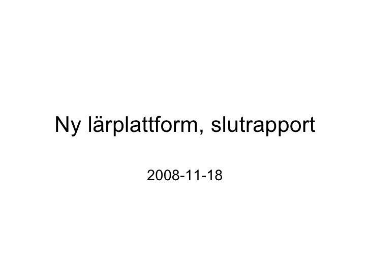 Slutpresentation Education as a Service