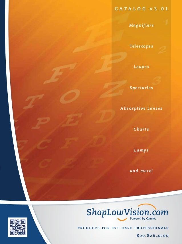 SLV.com Products for Eye Care Professionals Catalog v3.01
