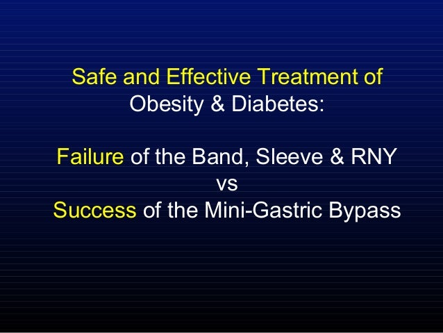 Safe and Effective Treatment of Obesity & Diabetes: Failure of the Band, Sleeve & RNY vs Success of the Mini-Gastric Bypass