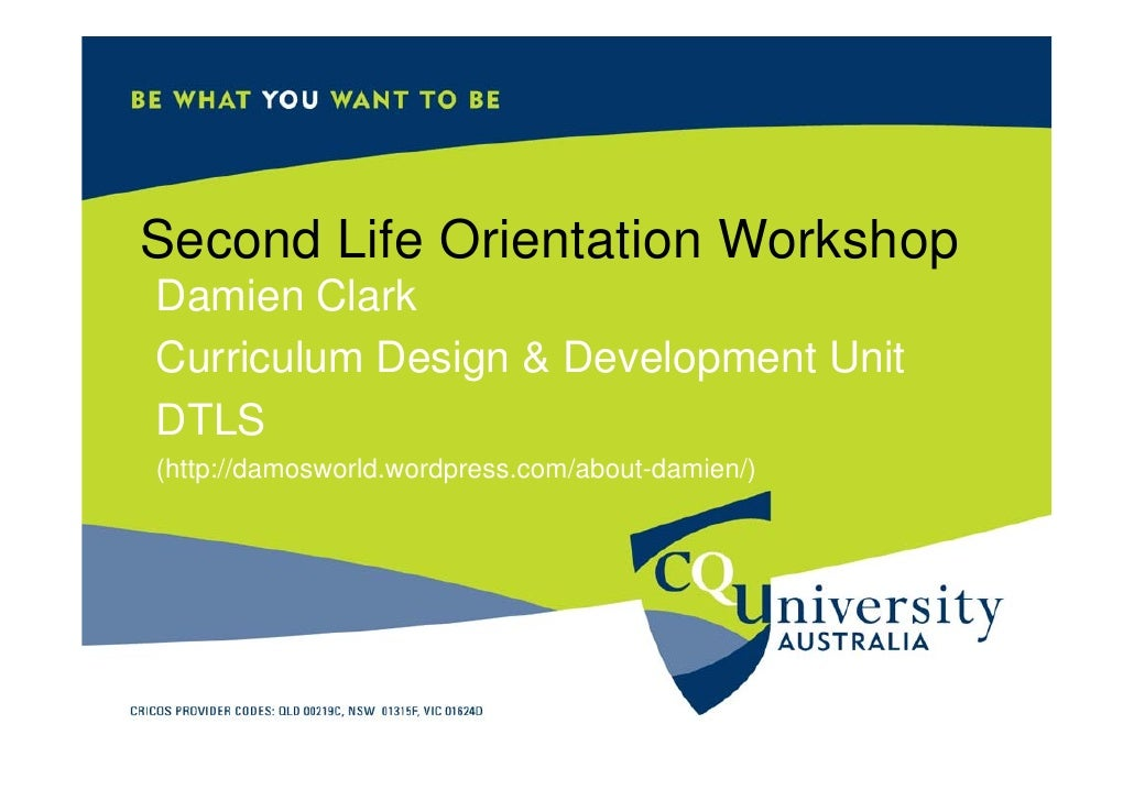 CQUni Second Life Staff Workshop
