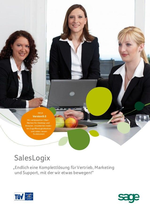 Sage SalesLogix 8.0 Broschüre Deutsch 2012