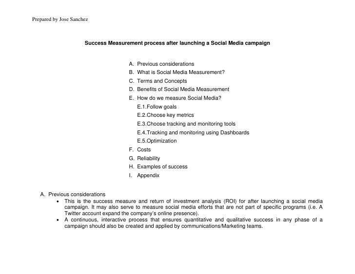Social media for PR - Communications - Success measurement