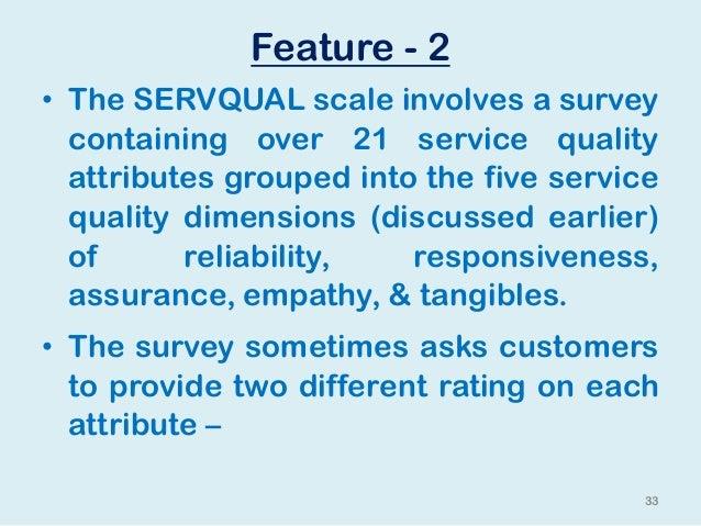 servqual 5 dimensions