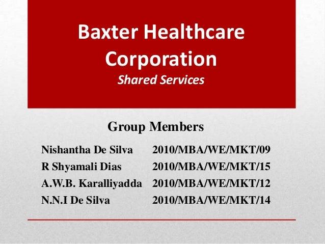 Sm   baxter case study - Strategic Marketing