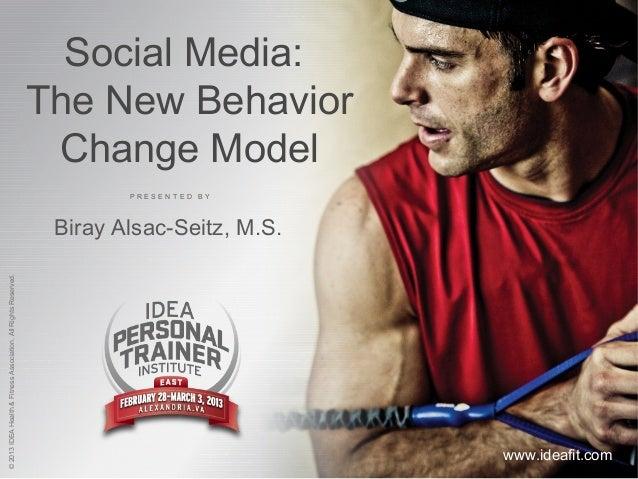 Social Media for Health Behavior Change