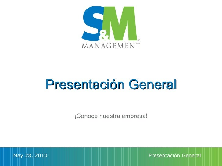 Presentación comercial Sports and Media Management