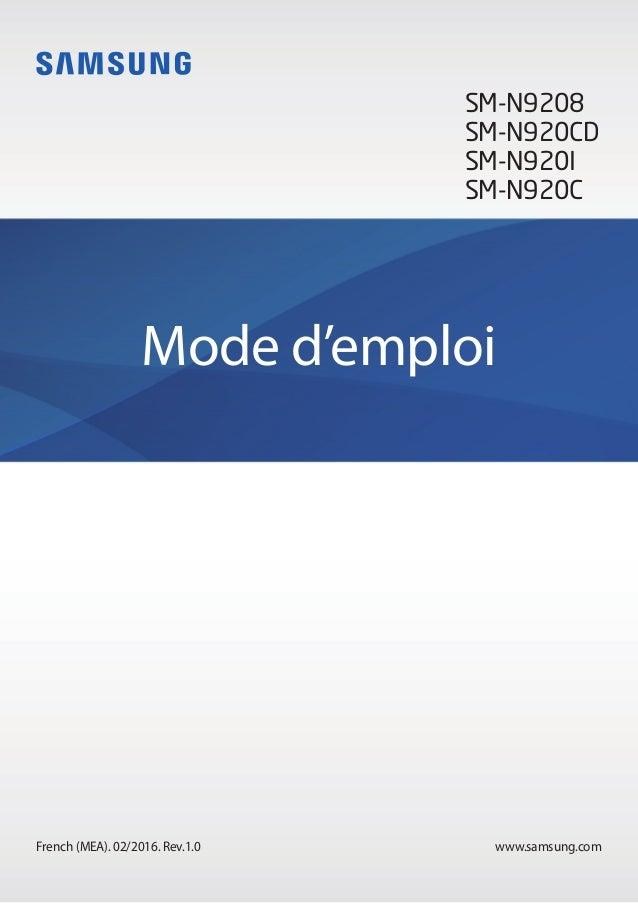www.samsung.comFrench (MEA). 02/2016. Rev.1.0 Mode d'emploi SM-N9208 SM-N920CD SM-N920I SM-N920C